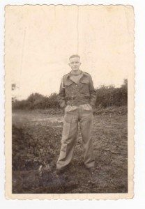 Charles on camp farm attached to Stalag 20B.