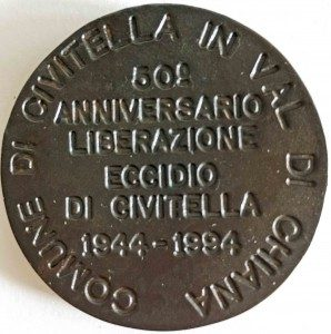 Civitella 50th anniversary medal
