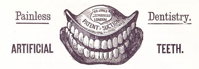 1880s advert for false teeth
