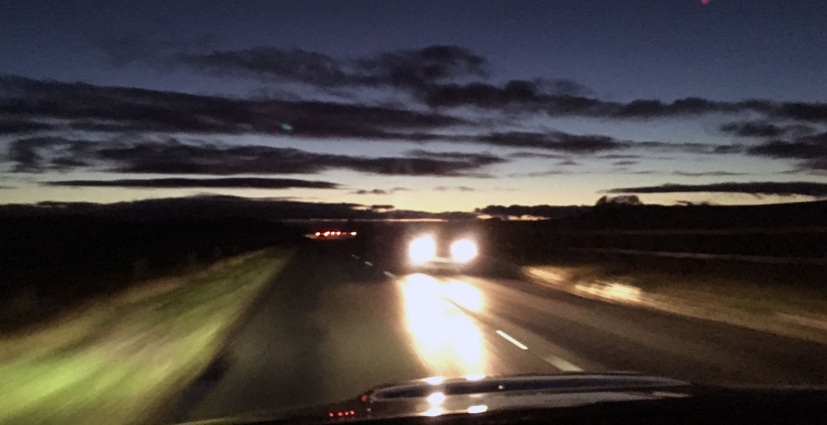 Ice, wind, rain and fog, and driving in the dark – November