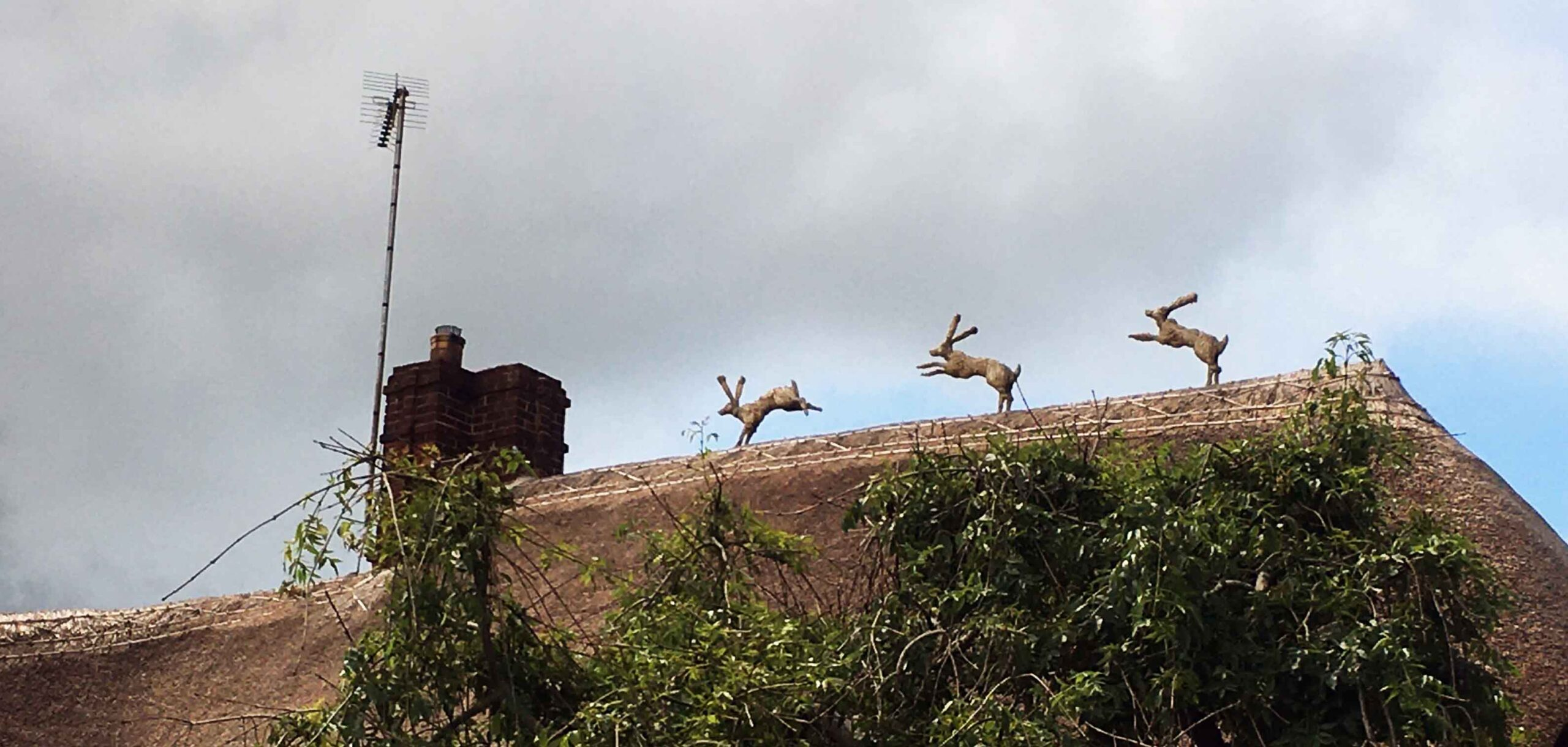 Three hares a-leaping